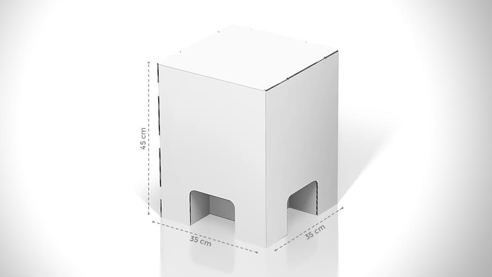 Sgabello in cartone con grafica personalizzabile | tictac.it