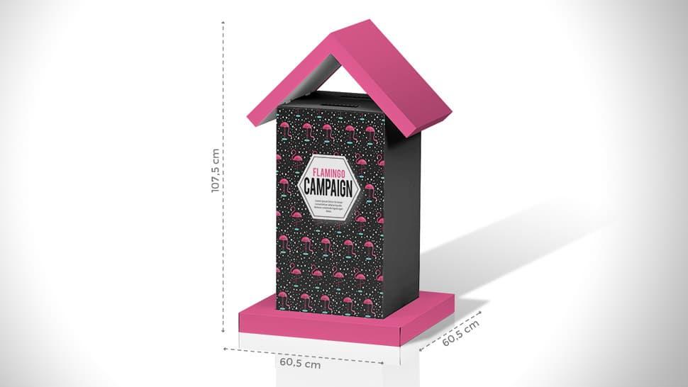 Cassetta a urna da tavolo – grafica personalizzata | tictac.it