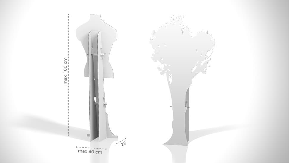 Cartonato sagomato personalizzabile con altezza massima 160 cm | tictac.it