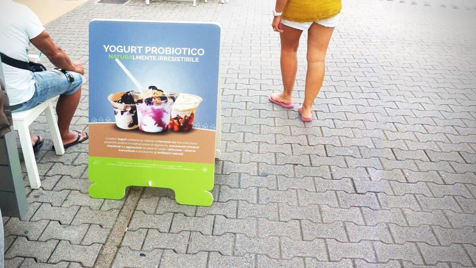 Cavalletto rigido gelateria | tictac.it