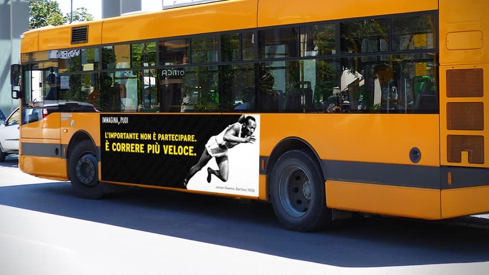 Adesivi pubblicitari per autobus | tictac.it