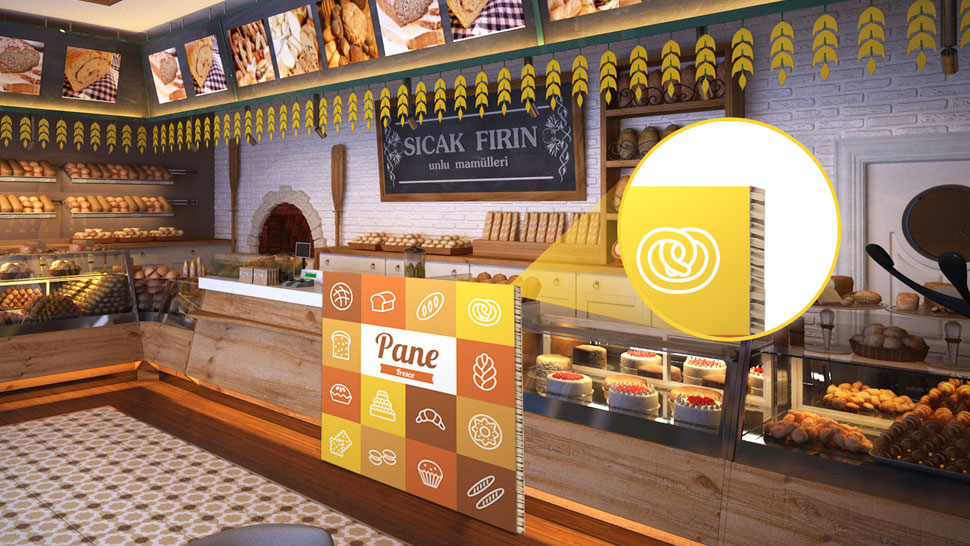 Pannello in nidoboard per negozi | tictac.it