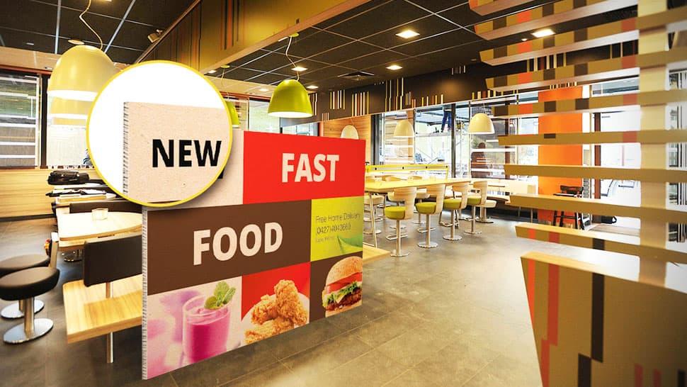 Pannello in nidoboard per ristorante | tictac.it