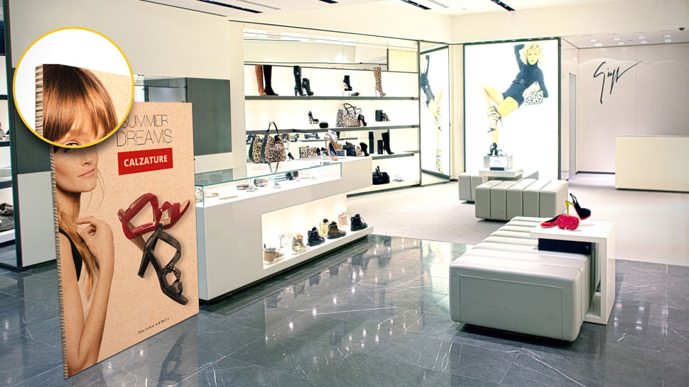 Pannello in nidoboard personalizzato per negozi | tictac.it
