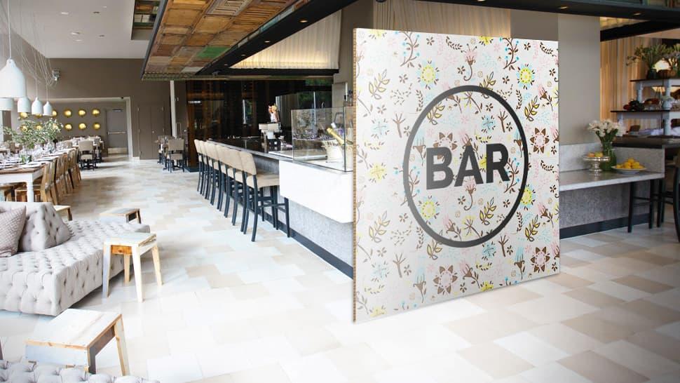 Pannello in cartone falconboard per ristorante | tictac.it
