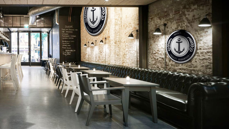 Pannello tondo in cartone falconboard per ristorante | tictac.it
