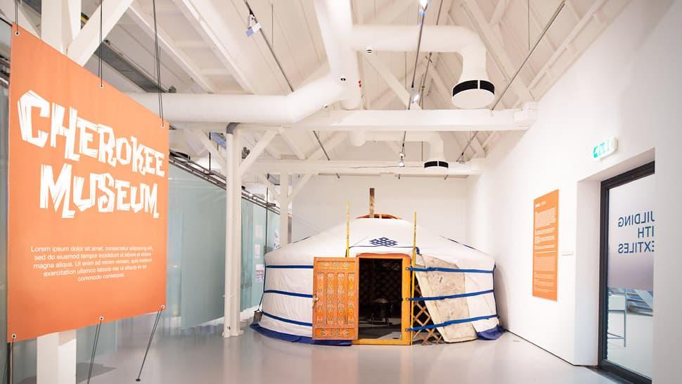 Striscione pvc grande formato per museo | tictac.it