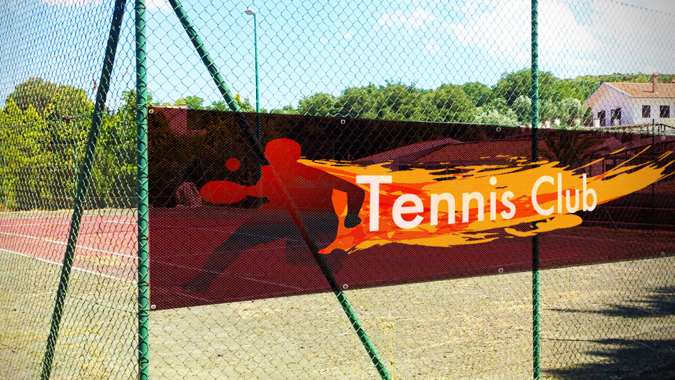 Striscione in rete mesh per tennis | tictac.it