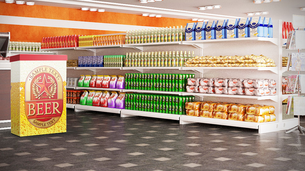 Banchetto in cartone per supermercati  | tictac.it