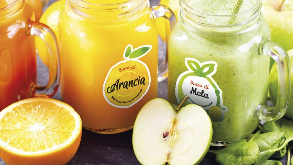 Etichette trasparenti per succhi di frutta | tictac.it
