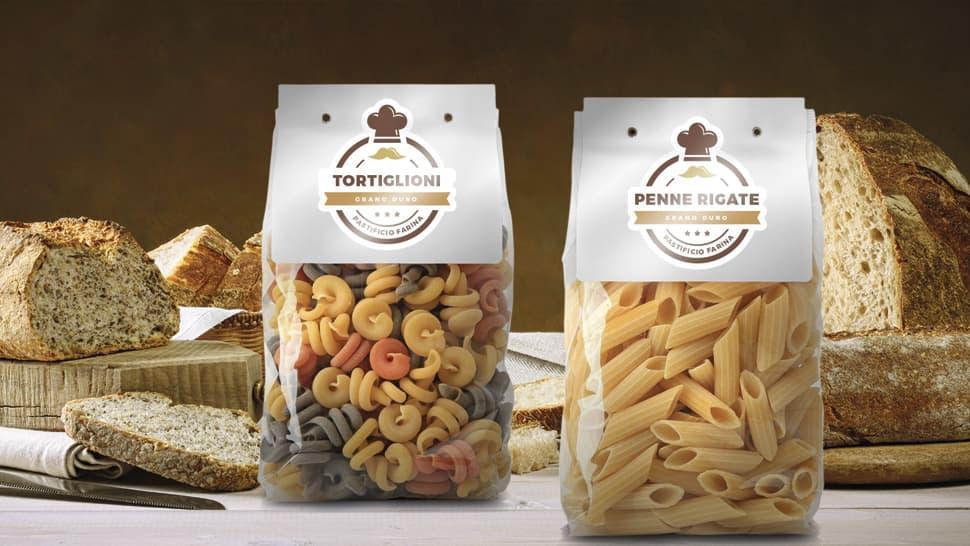Etichette lucide carta bianca per confezioni di pasta | tictac.it